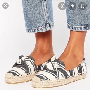 Soludos striped knotted espadrilles